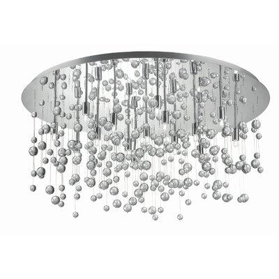 Ideal Lux Neve 15 Light Semi-Flush Ceiling Light