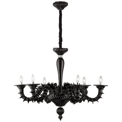 Ideal Lux Ca Rezzonico 6 Light Candle Chandelier