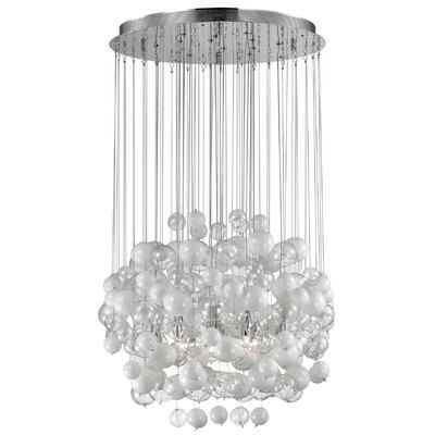 Ideal Lux Bollicine 14 Light Semi-Flush Ceiling Light