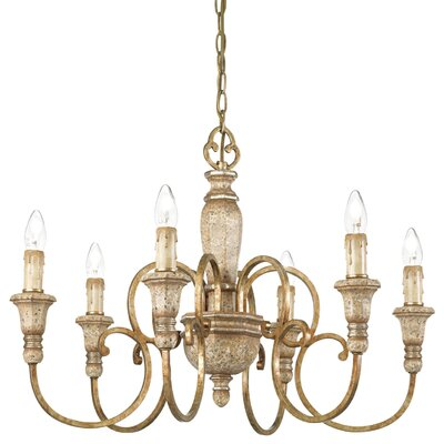 Ideal Lux Palio 6 Light Candle Chandelier