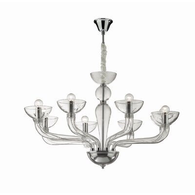 Ideal Lux Casanova 8 Light Candle Chandelier