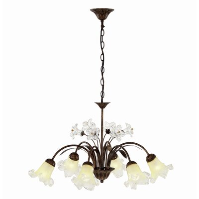 Ideal Lux Tirol 6 Light Candle Chandelier