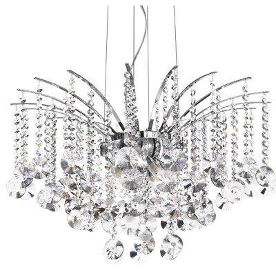 Ideal Lux Audi-77 8 Light Crystal Chandelier