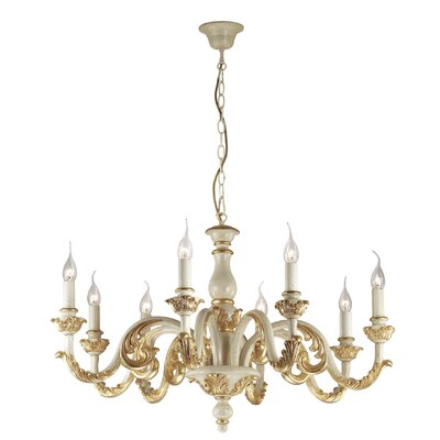 Ideal Lux Giglio 8 Light Candle Chandelier
