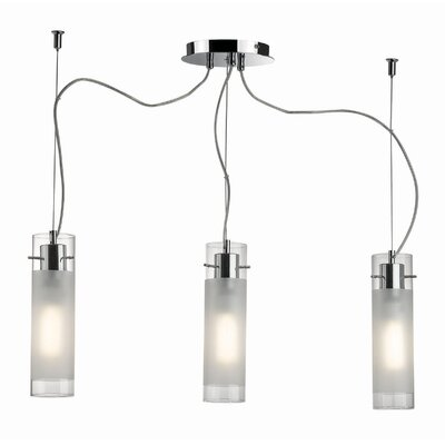 Ideal Lux Flam 3 Light Kitchen Island Pendant
