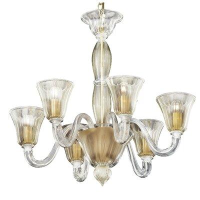 Ideal Lux 6 Light CrystalChandelier
