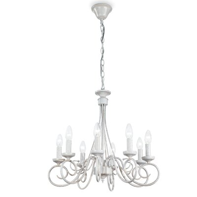 Ideal Lux Brandy 8 Light Candle Chandelier