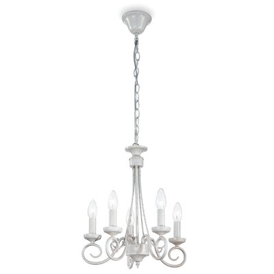 Ideal Lux Brandy 5 Light Candle Chandelier