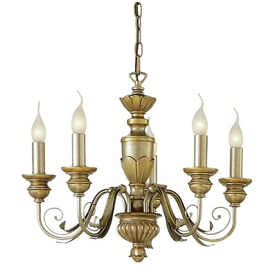 Ideal Lux Dora 5 Light Candle Chandelier