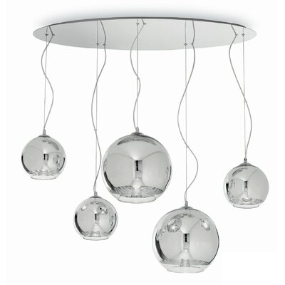 Ideal Lux Discovery 5 Light Kitchen Island Pendant