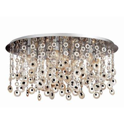 Ideal Lux Pavone 9 Light Flush Ceiling Light