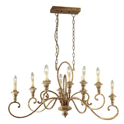 Ideal Lux Cortina 10 Light Candle Chandelier