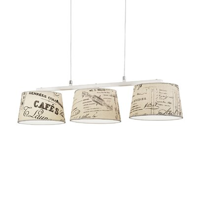 Ideal Lux Coffee 3 Light Kitchen Island Pendant