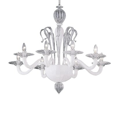 Ideal Lux Sogno 8 Light Candle Chandelier