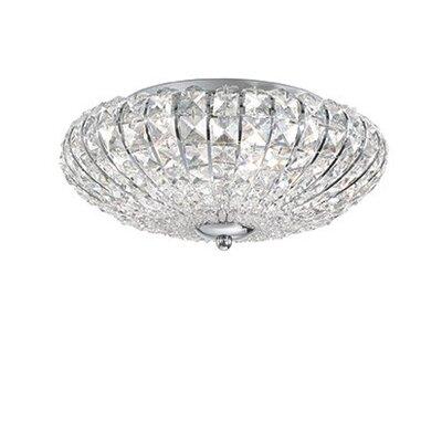 Ideal Lux Virgin 5 Light Semi-Flush Ceiling Light