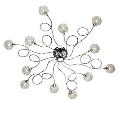 Ideal Lux Pon 12 Light Semi-Flush Ceiling Light