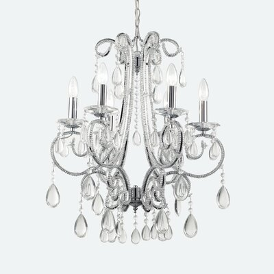 Ideal Lux Prisma 6 Light Crystal Chandelier