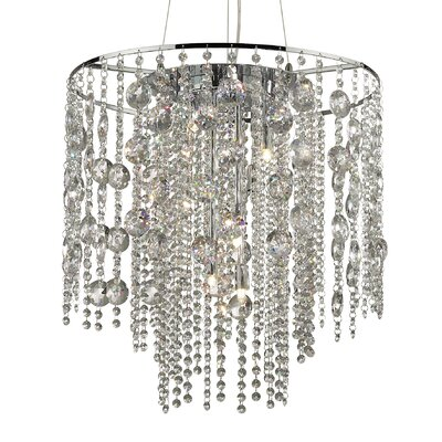 Ideal Lux Evasione 10 Light Crystal Pendant