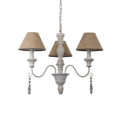 Ideal Lux Provence 3 Light Chandelier