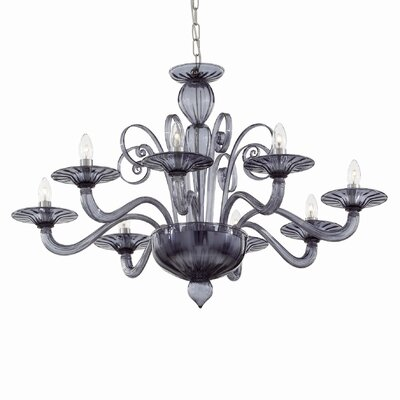 Ideal Lux Armani 8 Light Candle Chandelier