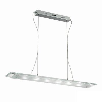 Ideal Lux Office-1 6 Light Kitchen Island Pendant