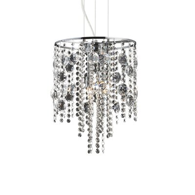 Ideal Lux Evasione 4 Light CrystalChandelier