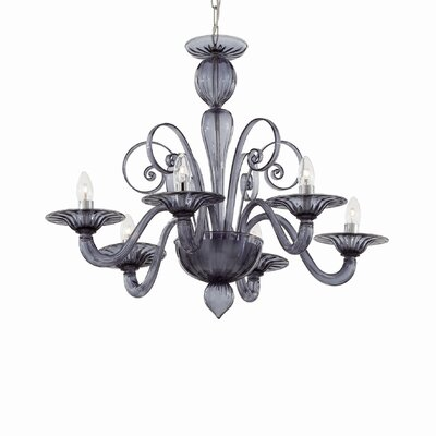 Ideal Lux Armani 6 Light Candle Chandelier