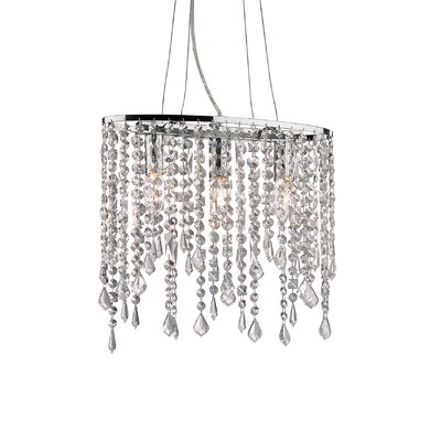 Ideal Lux Rain 3 Light Crystal Chandelier