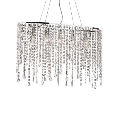 Ideal Lux Rain 5 Light CrystalChandelier