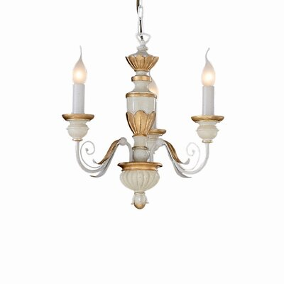 Ideal Lux Firenze 3 Light Candle Chandelier