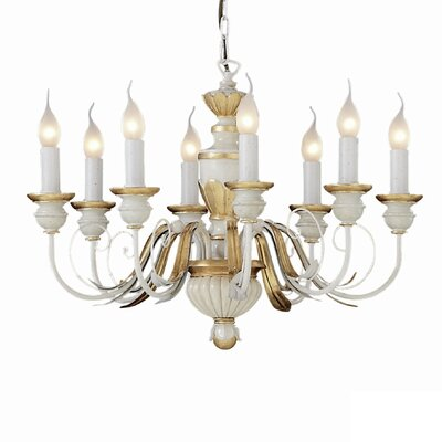 Ideal Lux Firenze 8 Light Candle Chandelier