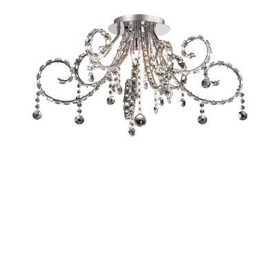 Ideal Lux Fiore 6 Light Semi-Flush Ceiling Light