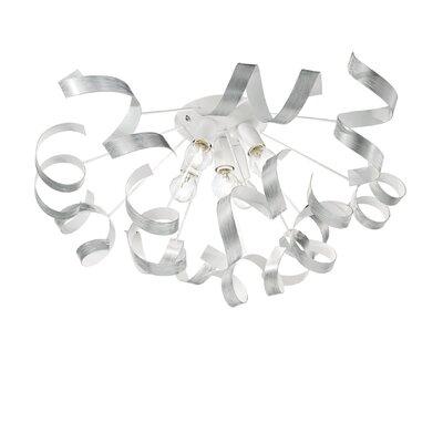 Ideal Lux Vortex 5 Light Semi-Flush Ceiling Light