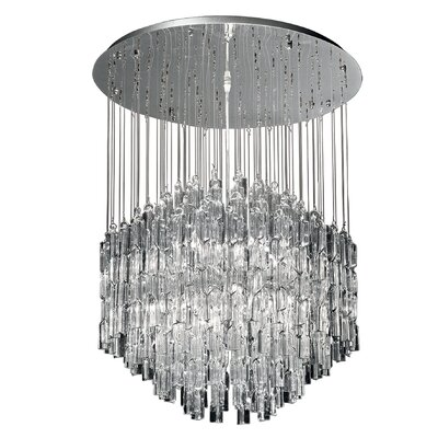 Ideal Lux Majestic 10 Light Crystal Pendant
