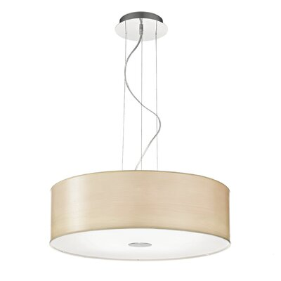 Ideal Lux Woody 5 Light Drum Pendant