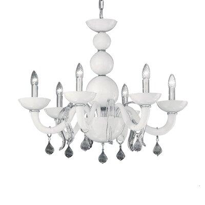 Ideal Lux Windsor 6 Light Candle Chandelier