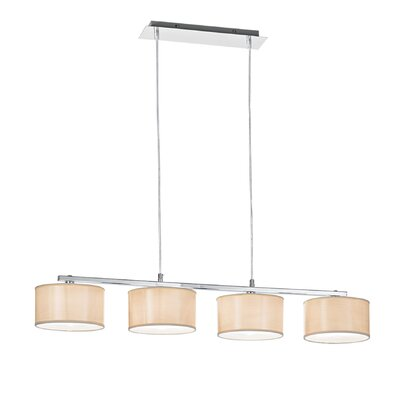 Ideal Lux Woody 4 Light Kitchen Island Pendant