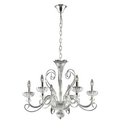 Ideal Lux Alexander 6 Light Candle Chandelier