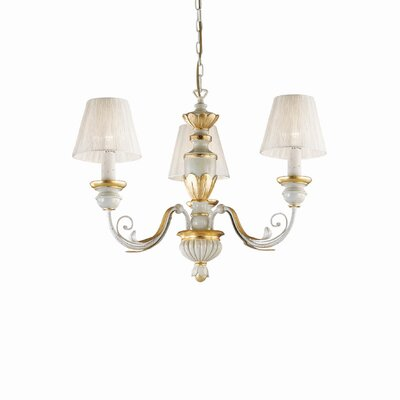 Ideal Lux Flora 3 Light Chandelier