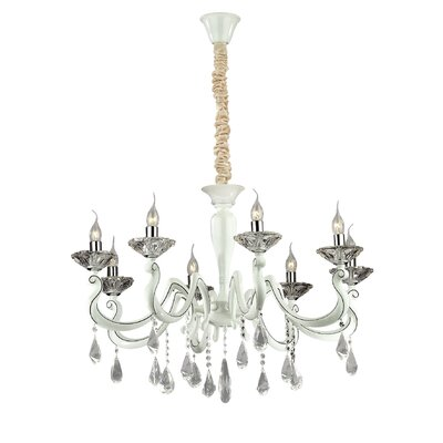 Ideal Lux Candido 8 Light Candle Chandelier