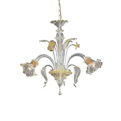Ideal Lux Rialto 3 Light Crystal Chandelier
