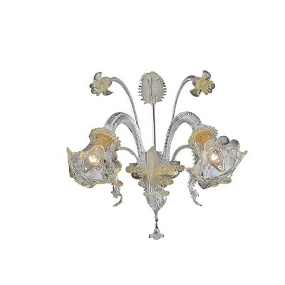 Ideal Lux Rialto 2 Light Wall Lamp