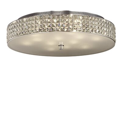Ideal Lux Roma 12 Light Semi-Flush Ceiling Light