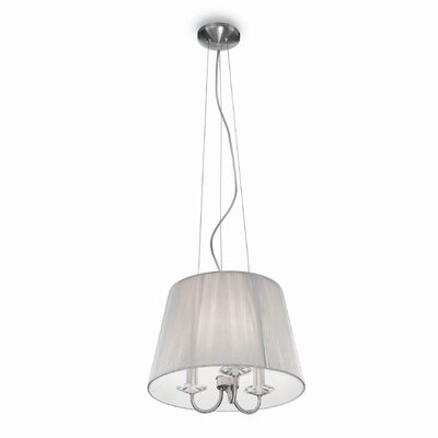 Ideal Lux Paris 3 Light Drum Pendant