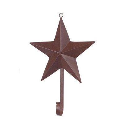 "Osmonde Rustic Iron Star Wall Hook Size: 3.75"" H x 3.75"" W"