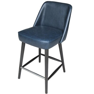 Fendley Counter Bar Stool Color: Navy Blue