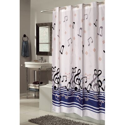 EZ-ON Blue Notes Shower Curtain
