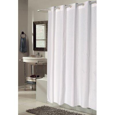 EZ-ON Checks Shower Curtain Color: White