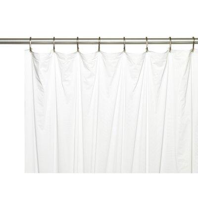 Vinyl 5 Gauge Shower Curtain Liner with Metal Grommets Color: White