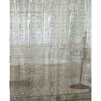 Geometric Vinyl Shower Curtain